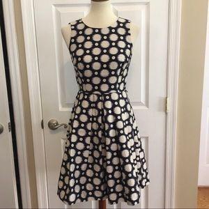 ELIZA J Blue White Sleeveless Fit & Flare Dress 2
